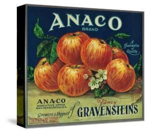 Anaco Apple Crate Label - San Francisco, CA by Lantern Press