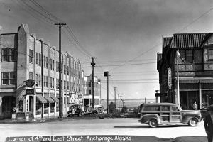 Anchorage, Alaska - 4th and East Street Corner by Lantern Press