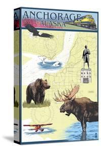 Anchorage, Alaska - Nautical Chart by Lantern Press