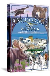 Anchorage, Alaska Views by Lantern Press