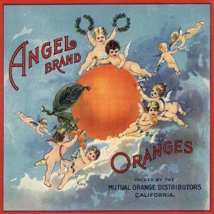 Angel Brand - California - Citrus Crate Label by Lantern Press