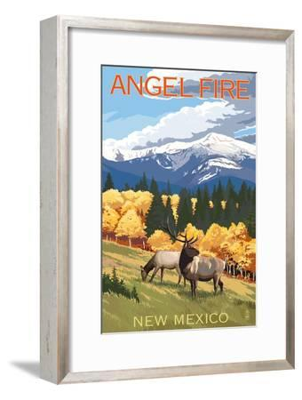 Angel Fire, New Mexico - Elk and Mountains