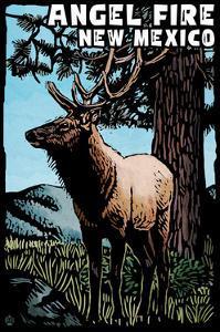 Angel Fire, New Mexico - Elk - Scratchboard by Lantern Press