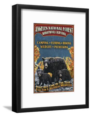 Angeles National Forest - Wrightwood, California - Black Bears Vintage Sign