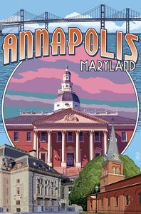 Annapolis, Maryland - Montage by Lantern Press