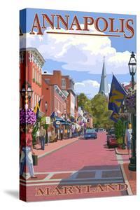Annapolis, Maryland - Street View by Lantern Press
