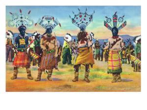 Apache Indians Dance the Devil Dance by Lantern Press