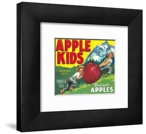 Apple Kids Apple Label - Yakima, WA by Lantern Press