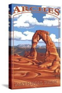 Arches National Park, Utah - Delicate Arch - Day Scene by Lantern Press