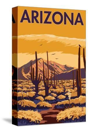 Arizona Desert Scene with Cactus