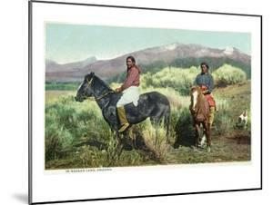 Arizona - Navajo Men on Horseback by Lantern Press