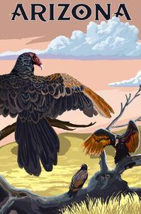 Arizona - Vultures by Lantern Press