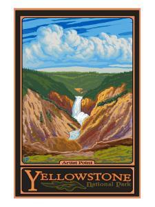 Artist Point, Yellowstone National Park, Wyoming by Lantern Press