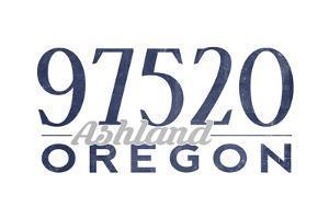 Ashland, Oregon - 97520 Zip Code (Blue) by Lantern Press