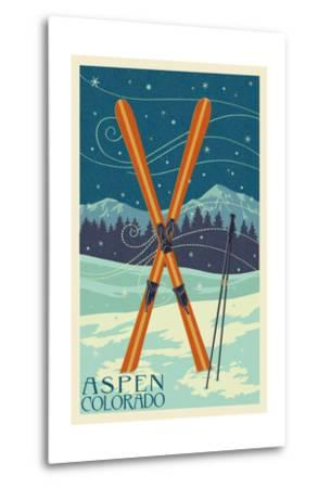Aspen, Colorado - Crossed Skis