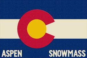 Aspen - Snowmass, Colorado State Flag by Lantern Press