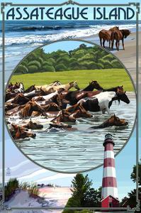 Assateague Island - Montage by Lantern Press