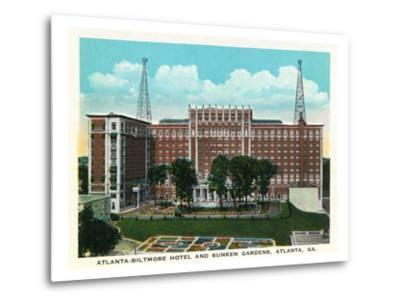Atlanta, Georgia - Atlanta-Biltmore Hotel Exterior and Sunken Gardens View
