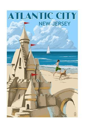 Atlantic City, New Jersey - Sandcastle by Lantern Press