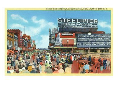 Atlantic City, New Jersey - Steel Pier View from Boardwalk by Lantern Press