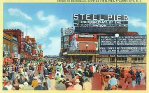 Atlantic City, New Jersey - Steel Pier View from Boardwalk by Lantern Press