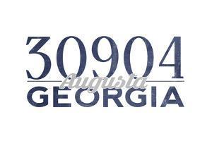 Augusta, Georgia - 30904 Zip Code (Blue) by Lantern Press