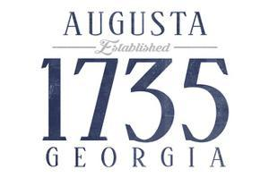 Augusta, Georgia - Established Date (Blue) by Lantern Press