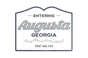 Augusta, Georgia - Now Entering (Blue) by Lantern Press
