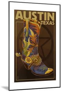 Austin, Texas - Boot and Star by Lantern Press