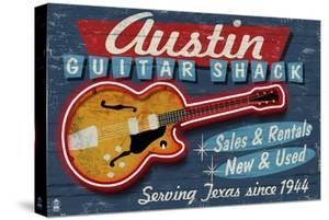 Austin, Texas - Guitar Shack Vintage Sign by Lantern Press