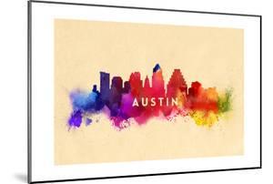 Austin, Texas - Skyline Abstract by Lantern Press