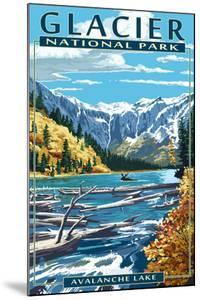 Avalanche Lake - Glacier National Park, Montana by Lantern Press