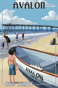Avalon, New Jersey - Lifeboat by Lantern Press