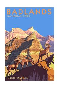 Badlands National Park, South Dakota - Bighorn Sheep by Lantern Press