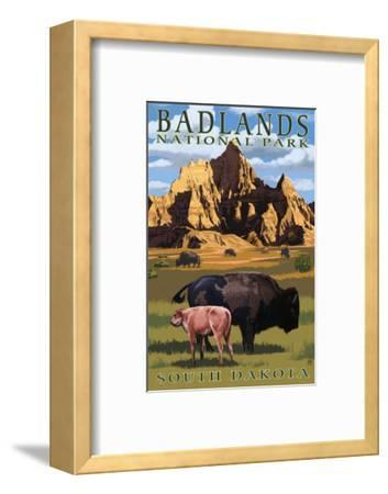 Badlands National Park, South Dakota - Bison Scene