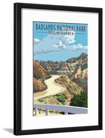Badlands National Park, South Dakota - Road Scene