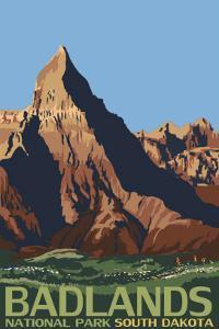 Badlands National Park, South Dakota by Lantern Press