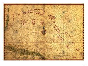 Bahamas - Panoramic Map by Lantern Press