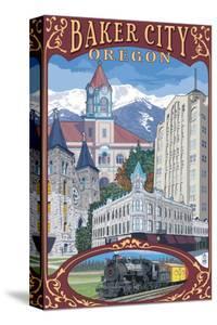 Baker City, Oregon - Town Views by Lantern Press
