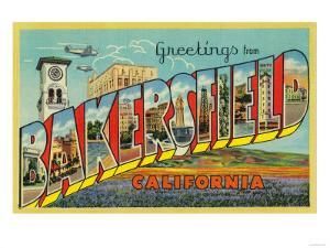 Bakersfield, California - Large Letter Scenes by Lantern Press