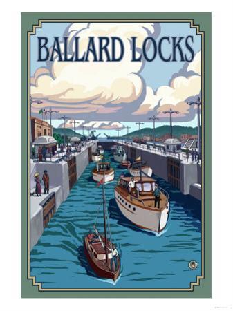 Ballard Locks and Boats, Seattle, Washington