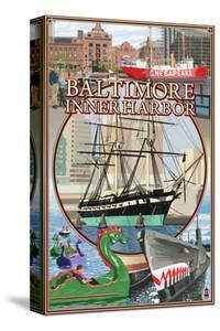 Baltimore Inner Harbor Scenes - Maryland by Lantern Press