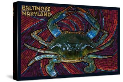 Baltimore, Maryland - Blue Crab Paper Mosaic