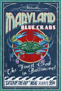 Baltimore, Maryland - Blue Crabs by Lantern Press