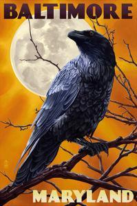 Baltimore, Maryland - Raven and Moon by Lantern Press