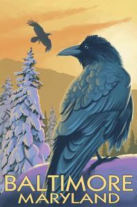 Baltimore, Maryland - Raven by Lantern Press