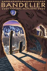 Bandelier National Monument, New Mexico - Twilight View by Lantern Press