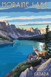 Banff, Alberta, Canada - Moraine Lake by Lantern Press