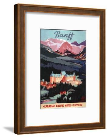 Banff, Alberta, Canada - Overview of the Banff Springs Hotel Poster
