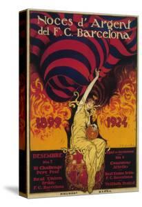 Barcelona, Spain - Soccer Promo Poster by Lantern Press